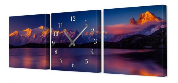 Модульные часы на холсте V37