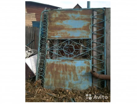 Ворота железные с калиткой