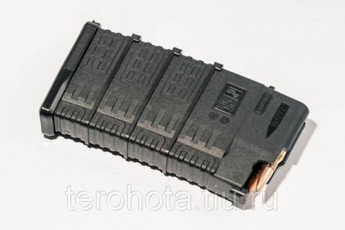 Магазин Pufgun на Сайга 308, 7,62х51, 20 патронов, полимер, черный, возможность укорочения, 175гр