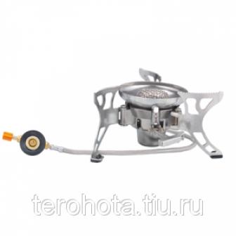 Tramp горелка туристическая складная со шлангом и пьезоподжигом TRG 012