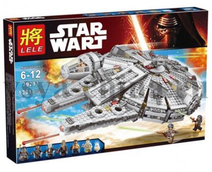 Конструктор Лего Звездные войны аналог Сокол Тысячелетия, Lele, 1381 деталей