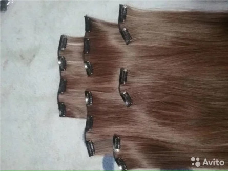 Искусственные волосы на заколках, пряди, трессы