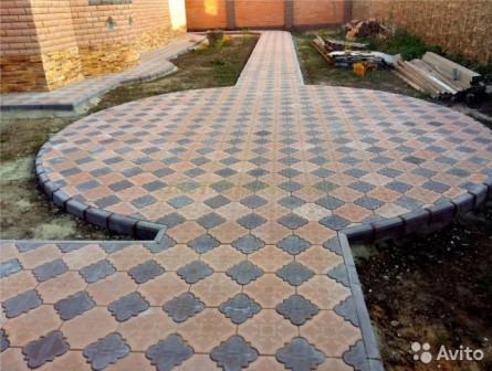 Укладка тротуарной плитки, брусчатка, отмостки