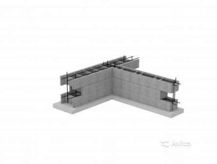 Несъемная опалубка из бетонных блоков 520.410.230