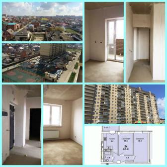 Продаю 2-х комнатную квартиру в Краснодаре, ЖК Притяжение, ул. Московская, д.118 корпус 1