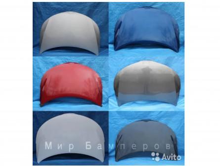 Капот Киа Рио 3 в цвет белый PGU