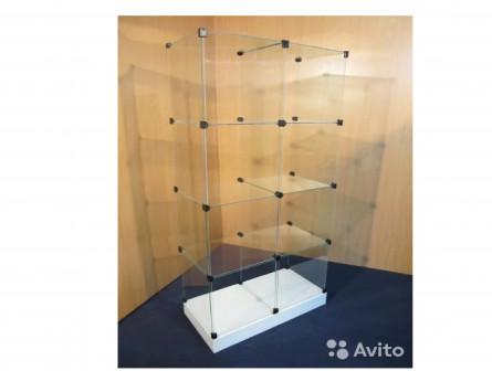 Куб стеклянный подиум 100 мм 5куб в выс. x2 ширину