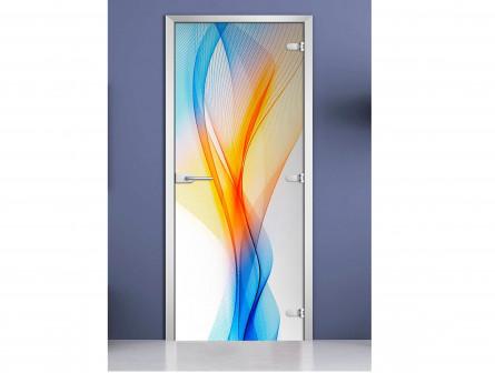 Стеклянная межкомнатная дверь с фотопечатью «Abstraction-01»