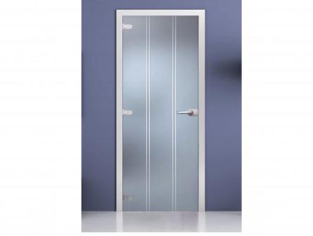 Стеклянная межкомнатная дверь с рисунком «Barcelona»