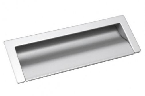 Ручка скоба 160мм врезная, отделка алюминий