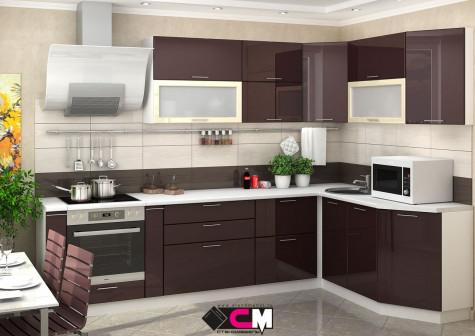 Кухонный гарнитур Ксения модульная система Шоколад