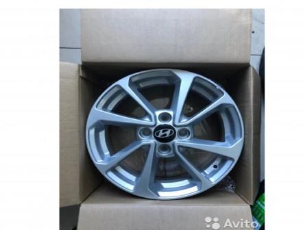 Новые литые диски R15 на Kia Hyundai