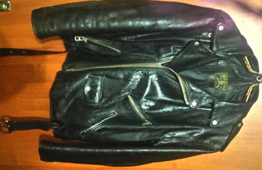 Куртка Косая раритет 1992г Натуральная толстая хромовая кожа