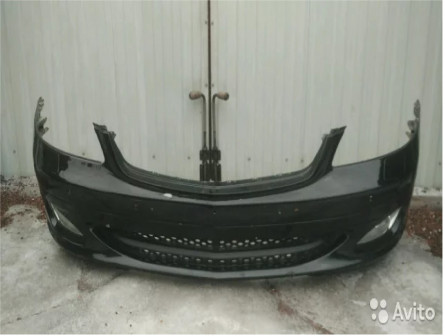 Передний бампер на Mercedes S 221 дорестайлинг Мер