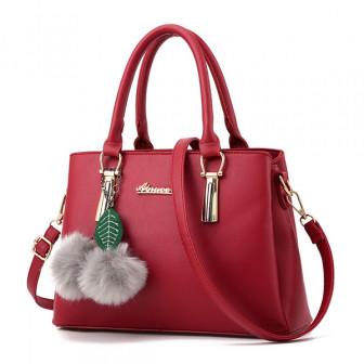 Женщины элегантный пу милые плюшевые шарика сумки клатчи мешок Кроссбоди мешок