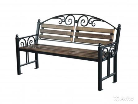 Кованая скамья для сада