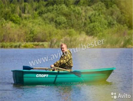Гребная стеклопластиковая лодка Спорт картоп