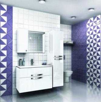 Мебель для ванной EDELFORM NOTAНота 75 (белый глянец)
