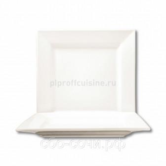 Тарелка квад 2424см WHITE DREAM