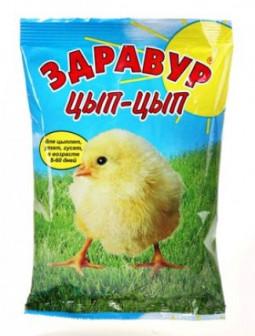 Премикс Здравур цып цып для цыплят, утят и гусят