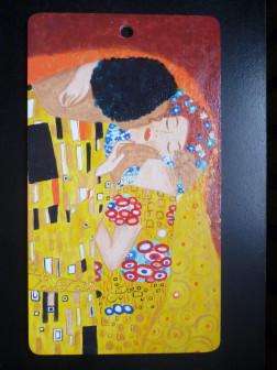 """Картина на доске""""Климт.Поцелуй"""""""