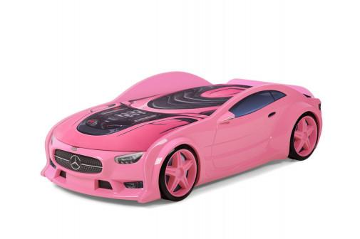 Кровать машина объемная NEO Мерседес Розовый