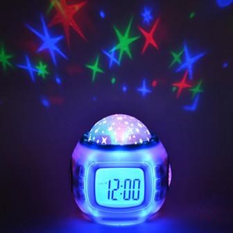 Часы будильник с проектором звездного неба, пластик, 10,4Х8,8Х10,3, 3хААА