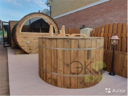 Баня-бочка 6м x 2,50 термо древесина