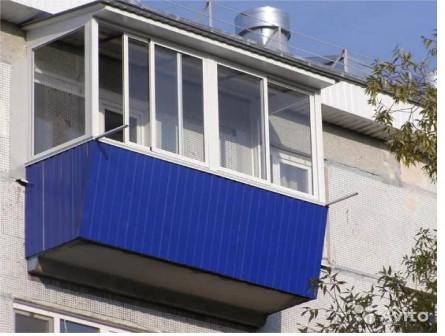 Балкон под ключ без предоплаты 3,1Х1,5 гост