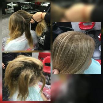Курсы повышения парикмахеров, практика на моделях ЮАО