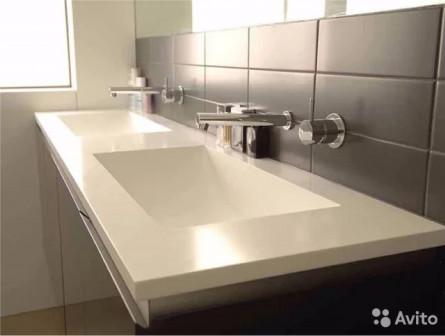 Столешницы в ванную из искусственного камня