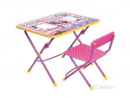 Комплект детской мебели Ника ку1 3 Маша и Медведь