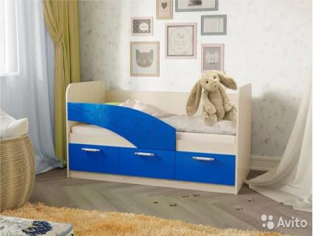 Детская кровать Капитан с бортиком