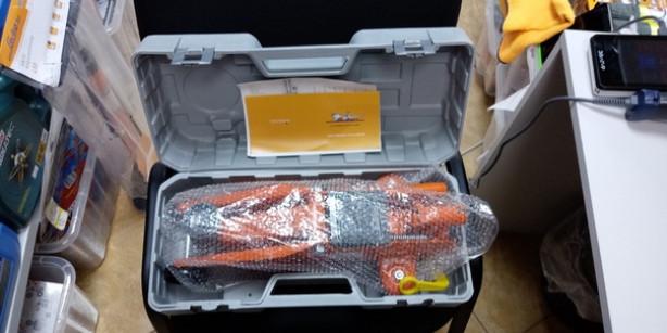 Домкрат подкатной 2т в кейсе (MIN - 135 мм, MAX - 330 мм)
