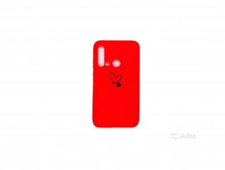 Силиконовый чехол для P20 Lite 2019 красный