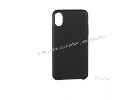 Премиум Чехол (под кожу) для iPhone X (чёрный)