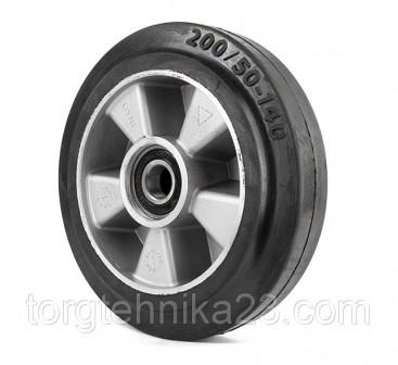 Колесо рулевое для гидравлтележки резинаалюминий 20050