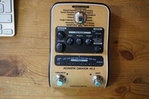 Zoom AC-2 предусилитель для акустической гитары