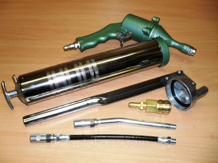 Пневматический нагнетатель консистентных смазок, 6 предметов JAT 6004K