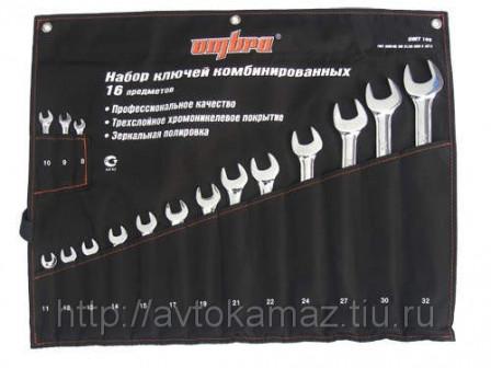 OMT16S Набор ключей комбинированных 16 предметов Ombra