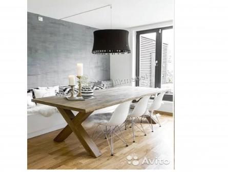 Стол деревянный в стиле лофт