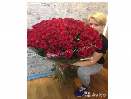 101 роза букет доставка бесплатно finally 80 см