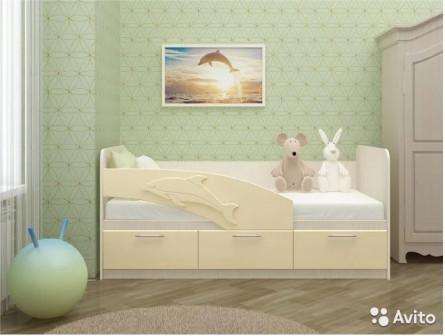 """Кровать детская """"Дельфин розовый"""""""
