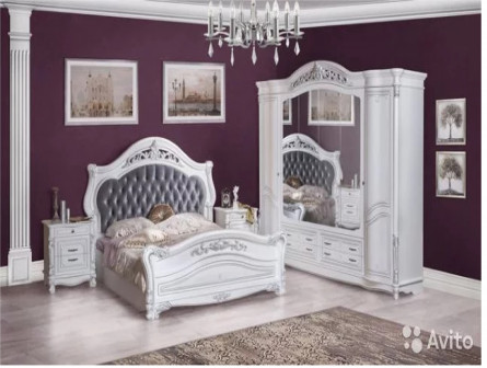 Спальня кассандра белая глянец