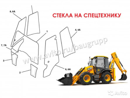 Стекла для строительной спецтехники