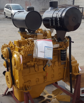 Двигатель Shanghai SC8D190G2B1 для грейдера XCMG GR180, асфальтоукладчика Zoomlion DTU90D, DTU100D