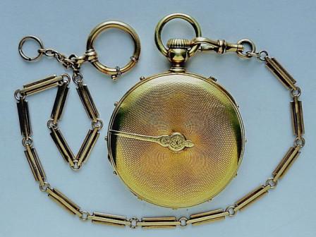 "Антикварные золотые карманные часы patek philippe ""A-tact"" Князя Н.Н.Витгенштейна"