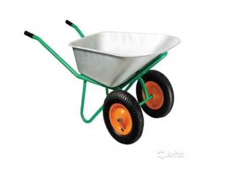 Тачки садовые 1 и 2х колесные. 130 кг (новые)