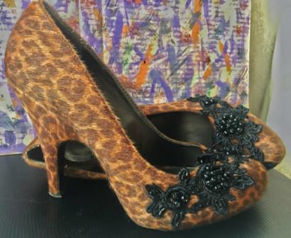 Туфли леопардовые.