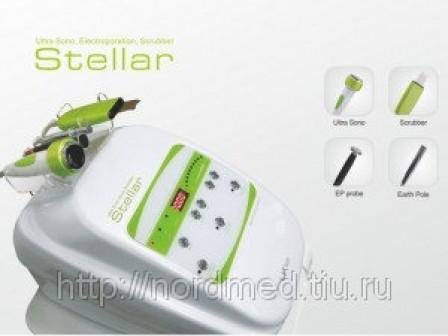 Stellar косметологический комбайн (сонофорез, микротоки, скрабер, электропорация)(Корея)